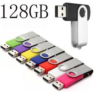 CLÉ USB 128 Go Clé USB à mémoire flash USB Noir