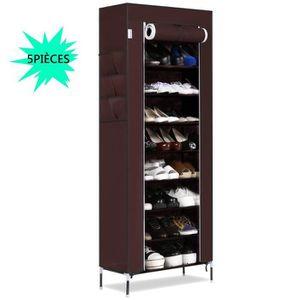MEUBLE À CHAUSSURES 5PCS Etagères à chaussures Armoire10 couches avec