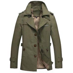 Imperméable - Trench poussière manteau Pour des hommes coton décontract