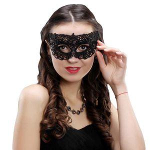 MASQUE - DÉCOR VISAGE Masque Femme Dentelle Noir Bal Mascarade Masqué No e7394aa20f29