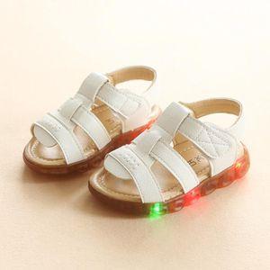 BASKET SANDALE bébé d'été, chaussures lumières de nuit,se