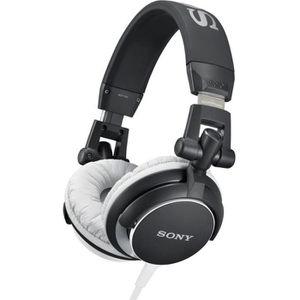 CASQUE - ÉCOUTEURS SONY MDR-V55 Casque audio stéréo - Noir et Blanc