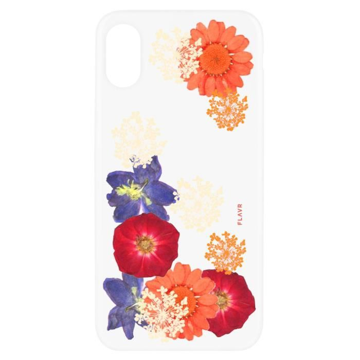 Coque iPlate Real Flower Ameli pour iPhone X