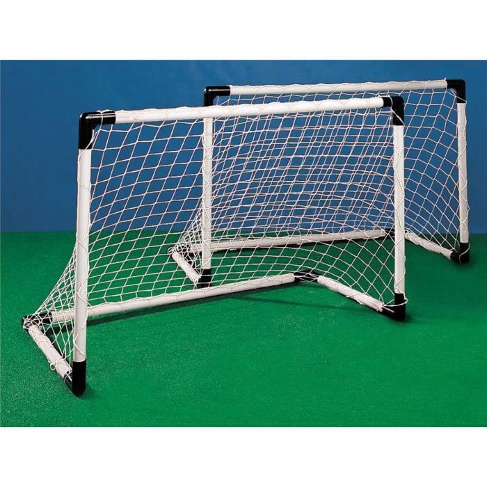 COUPE DU MONDE FIFA 2018 - Kit 2 Mini Cages de But Foot + Ballon
