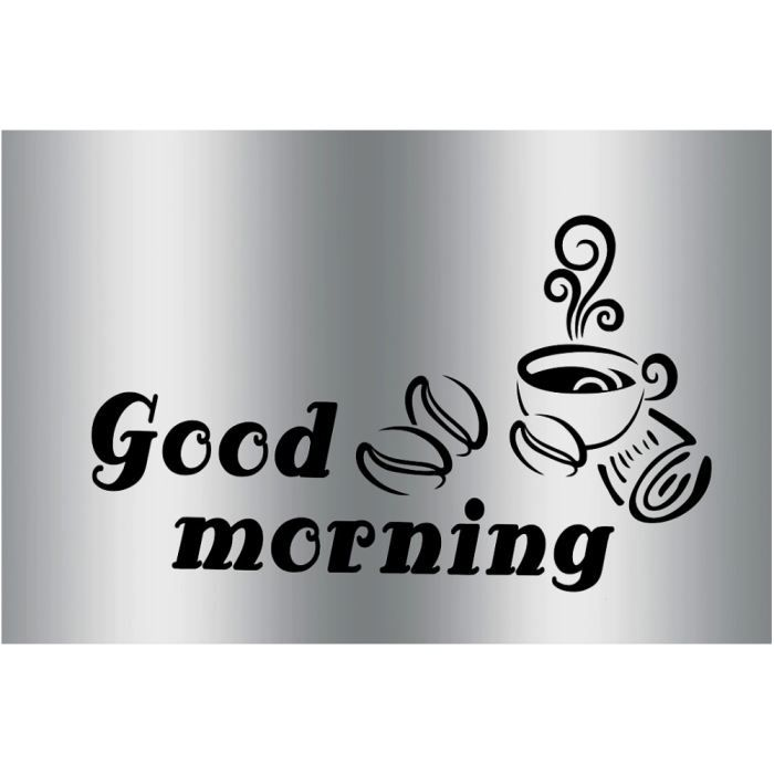 plaque sticker gourmand protection cuisine good morning coffee