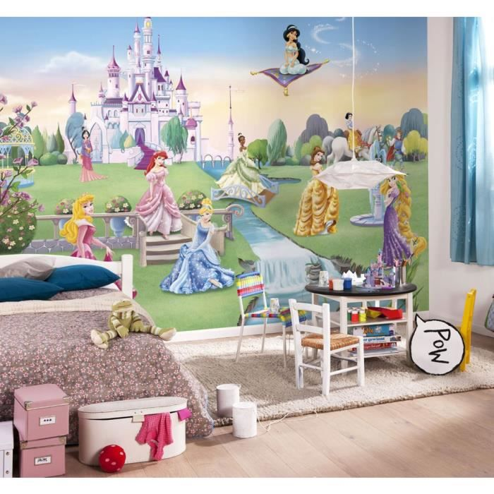 Papier Peint Chateau De Princesse Disney Achat Vente Papier