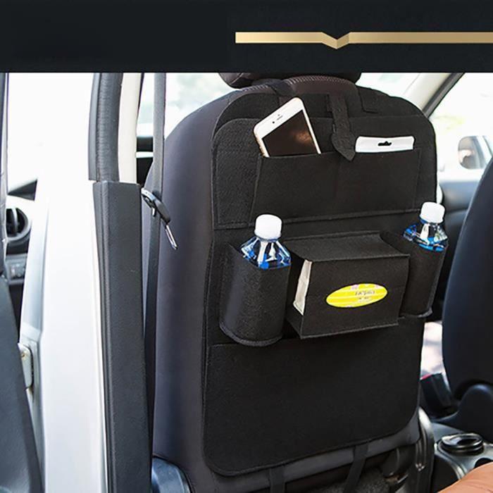 Voiture auto Siège arrière Sac multi-poches Sac de rangement organiseur -Noir