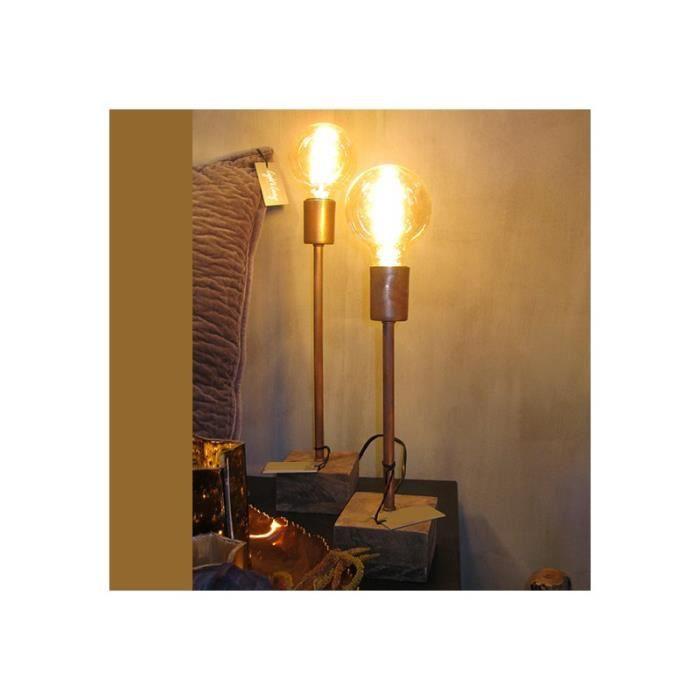 lampe de chevet cuivre achat vente lampe de chevet cuivre pas cher cdiscount. Black Bedroom Furniture Sets. Home Design Ideas