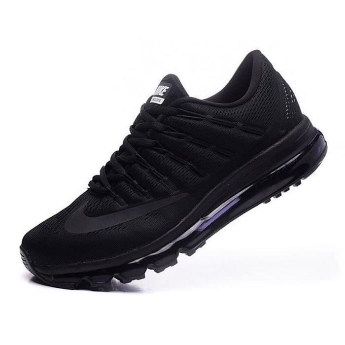 info pour b6695 ca49a Hommes Nike Air Max 2016 Chaussures de running noir complet ...