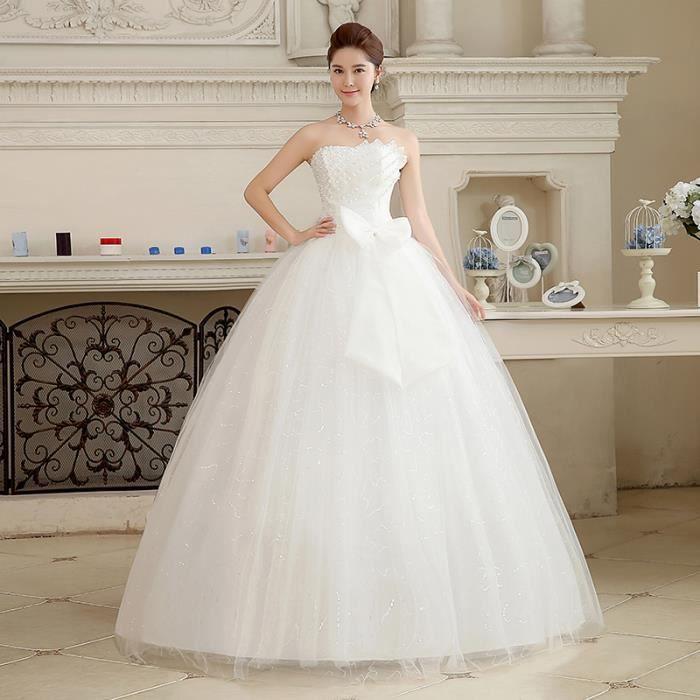Xxl Sweetange Style Coréen Doux Romantique Dentelle Princesse Robe De Mariée De Diamant
