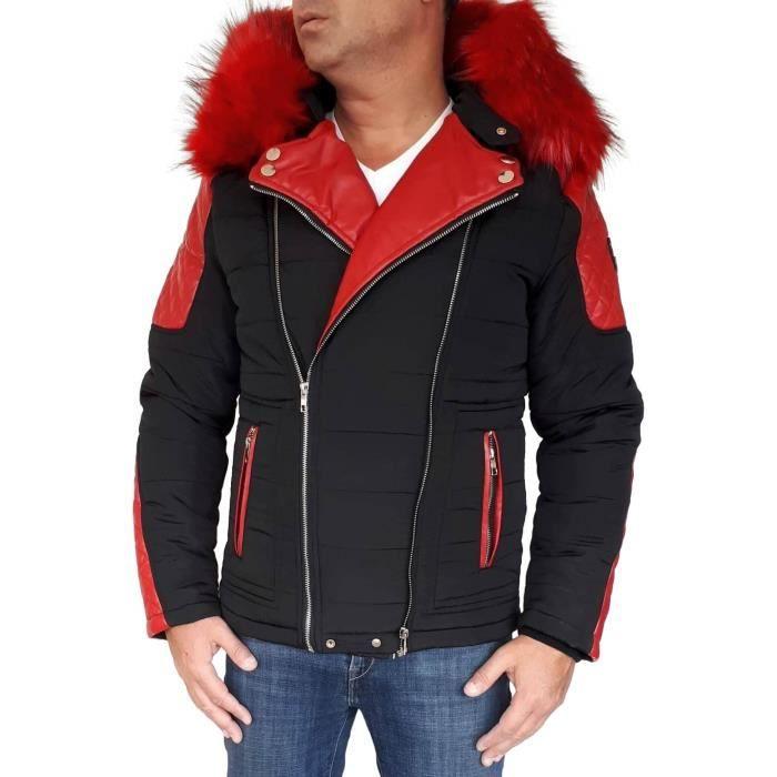 0bf510c927 dououne-homme-capuche-fourrure-noir-et-rouge.jpg