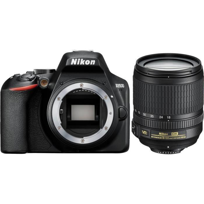 APPAREIL PHOTO RÉFLEX NIKON D3500 Appareil photo Reflex + AF-S 18/105 VR