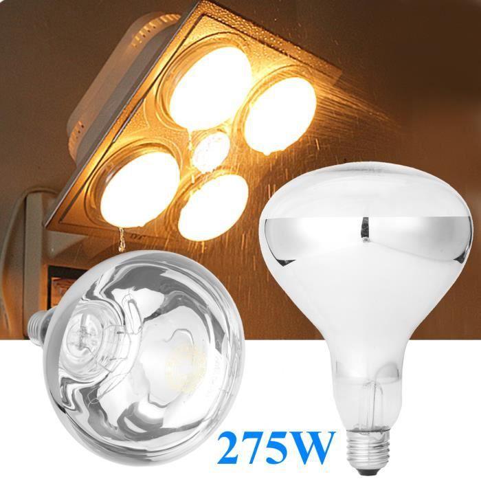 Lampe Tempsa Infra Chauffante 275w Infrarouge Lumière Maison Bulb E27 Ampoule Rouge OkiPZuTX