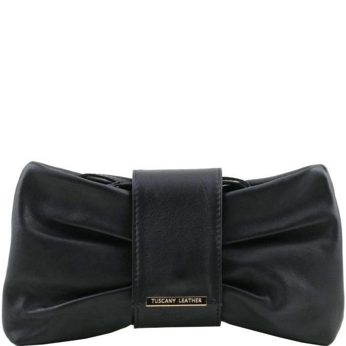 Tuscany Leather - Priscilla - Sac à main pour femme - Noir