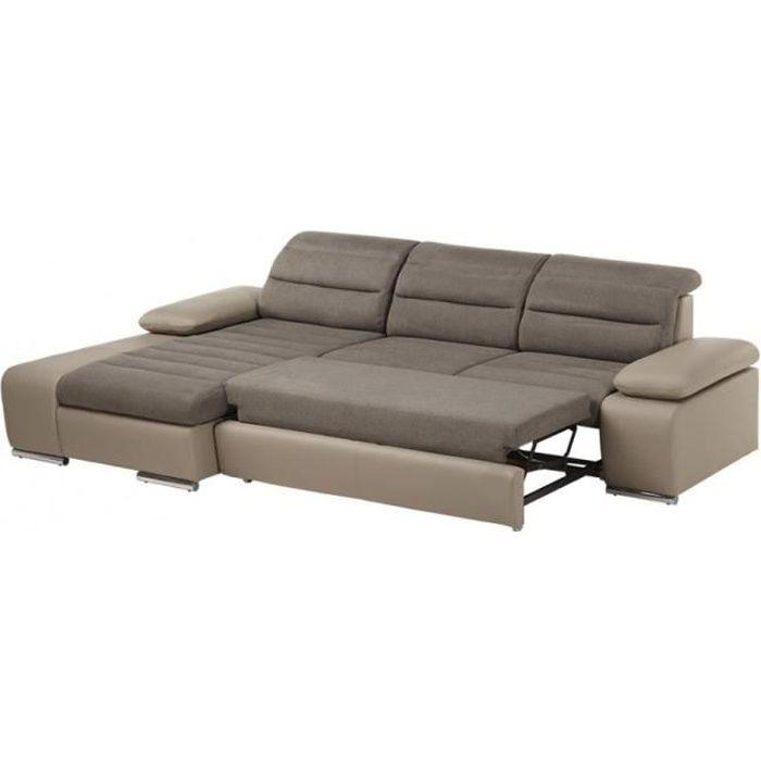 canap sofa divan canap dangle convertible en tissu et