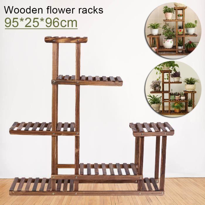 Balcon bois fleur stand sol assemblée en bois massif multicouche en ...