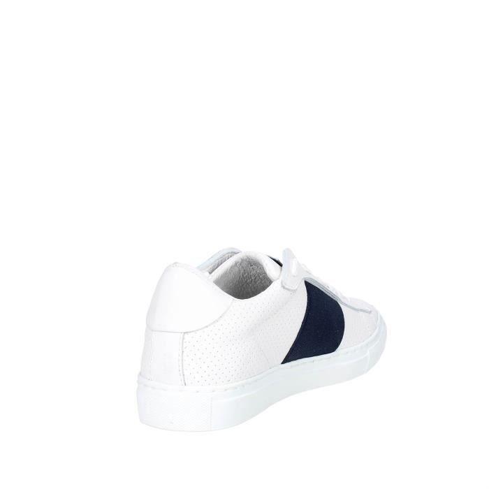 noir Blanc Femme Blanc noir Sneakers Nyon blanc 40 blanc argent rouge w6EtXq
