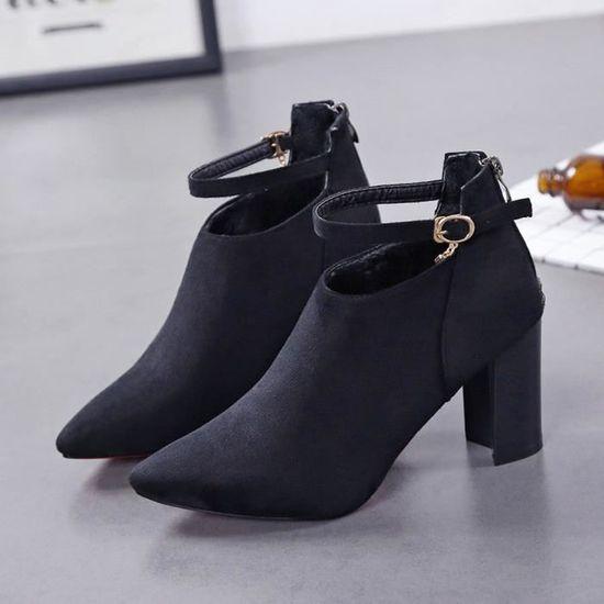 1ac6bda5deb1 Femmes Parti Suede Strappy Épais Talons Hauts Matant Sandales Chaussures  Classiques Noir PANSY Noir Noir - Achat   Vente sandale - nu-pieds -  Soldes  dès le ...