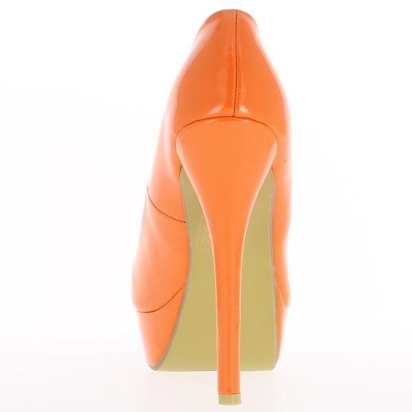 Escarpins femme oranges vernis à…