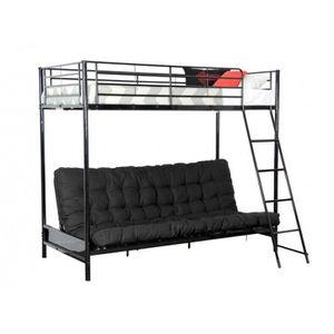 lit mezzanine avec banquette achat vente lit mezzanine avec banquette pas cher cdiscount. Black Bedroom Furniture Sets. Home Design Ideas