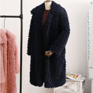 MANTEAU - CABAN Les femmes hiver chaud épais manteau solide Pardes ... 54d7f10d7436