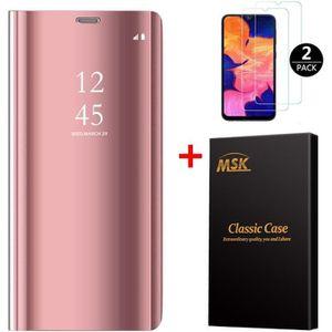 HOUSSE - ÉTUI Coque Samsung A10 + [2 Pack] Verre trempé, Miroir