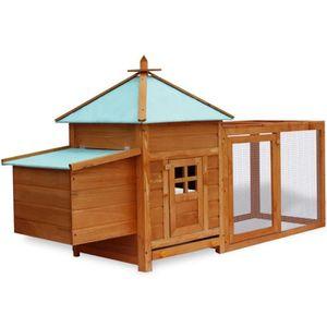POULAILLER Poulailler extérieur 190 x 64 x 100 cm cages pour