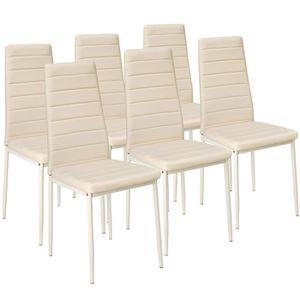 Chaises de salle a manger beige - Achat / Vente pas cher