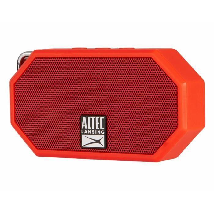 ALTEC Enceinte mini H2O - ip 67 - 3,5 mm microphone - RougeENCEINTE NOMADE - HAUT-PARLEUR NOMADE - ENCEINTE PORTABLE - ENCEINTE MOBILE - ENCEINTE BLUETOOTH - HAUT-PARLEUR BLUETOOTH