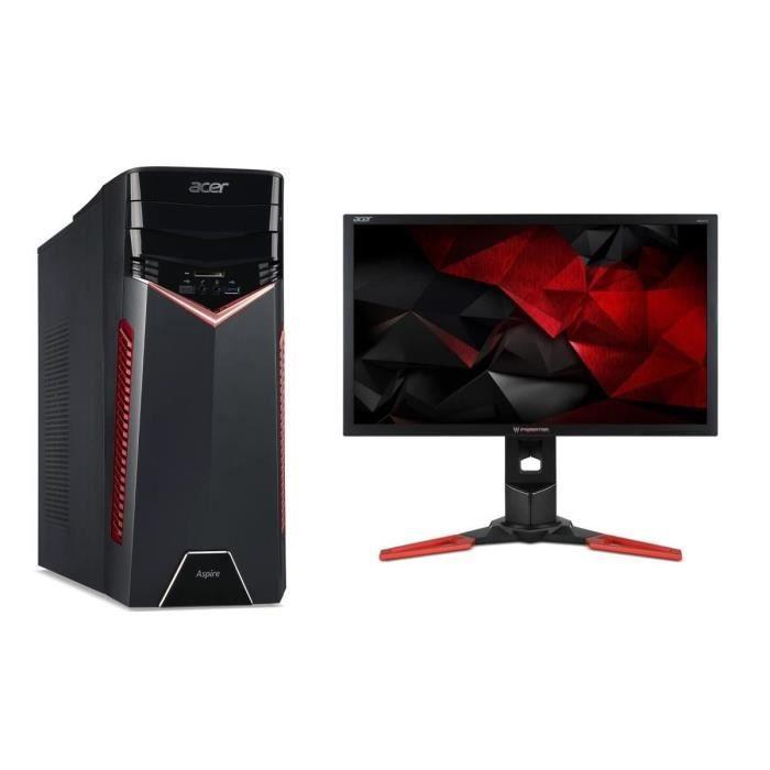 PC ACER Aspire GX-781 - i7-7700 - RAM 16Go - 1To HDD + 128Go SSD - GTX 1080 8Go + Ecran Predator XB241H 24\