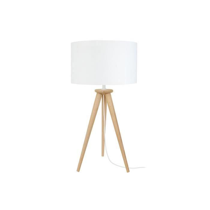 Tripod Naturel Poser À Design Trépied Lampe Miliboo Bois srdtQCBhxo