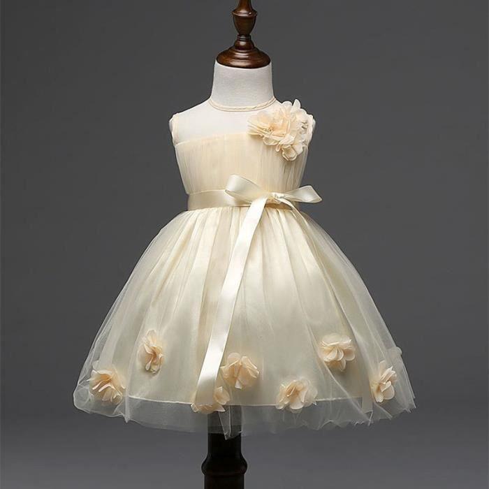 0ebbfb390b0249 Robe Demoiselle D'honneur Fillette -Robe D'enfant Pour Mariage-Robe Courte  D'enfant-Robe De Mariage Pour Enfant Co…