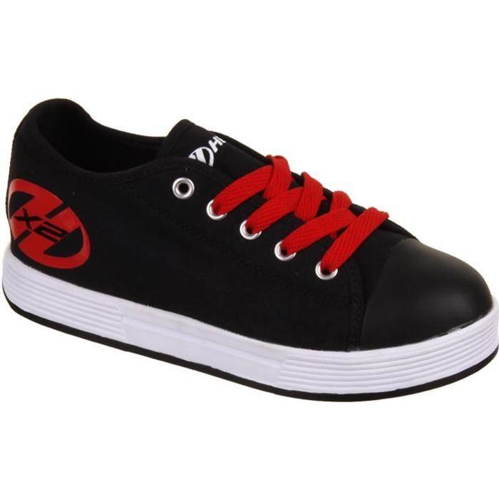 Heelys - Chaussures à roulettes X2 Fresh - 2 x 2 roues - noir/rouge h4WsPXxXw2