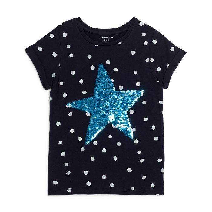 5487659268198 T-shirt imprimé Bleu Encre - Achat   Vente t-shirt - Cdiscount