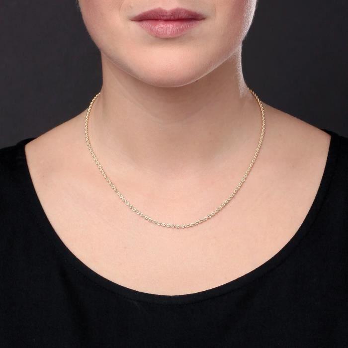 Les Bijoux dEmma - Collier en Maille Corde - OR 9CT