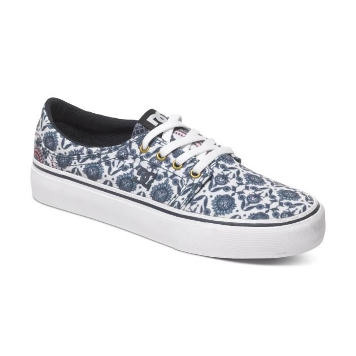 Chaussures Femme DC TRASE SP blue print