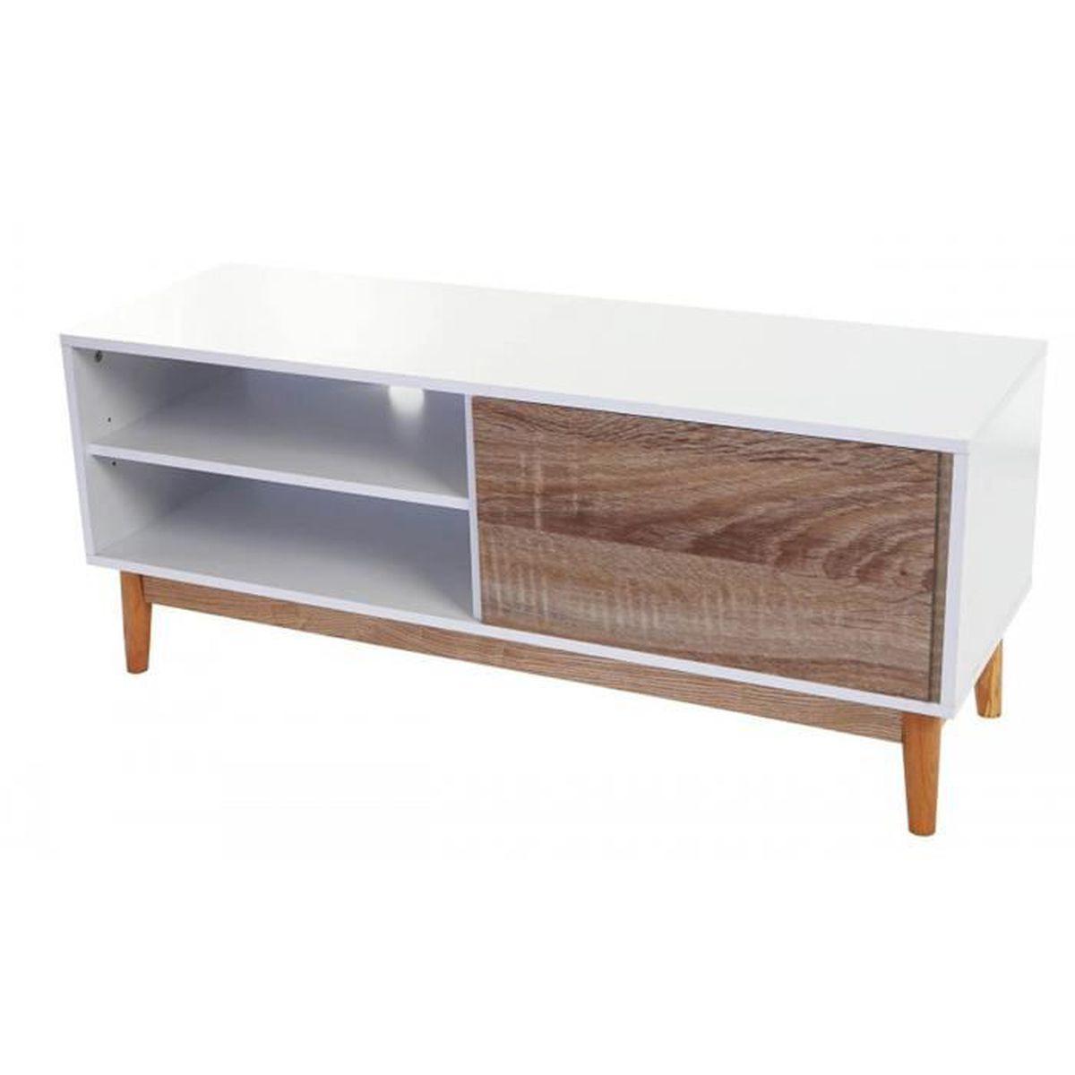 Meuble bois blanc pas cher finest meuble bois blanc pas for Meuble cuisine blanc et bois