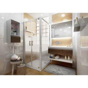 PORTE DE DOUCHE Paroi de douche fixe pour porte ANCOSWING en verre 843404122208