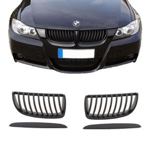 597f35099a7 KIT CARROSSERIE 2 GRILLE DE CALANDRE CONVEXE NOIR MAT BMW SERIE 3