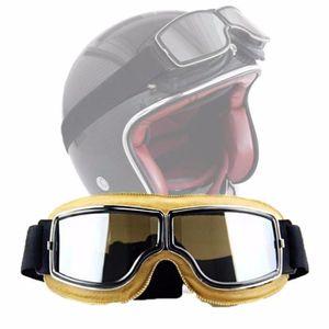 LUNETTES - MASQUE Lunette Half Helmet Steampunk ATV Motorcycle Biker
