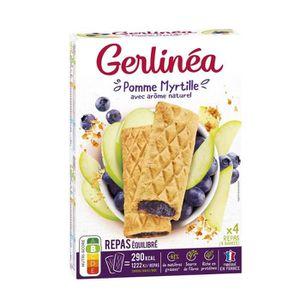 BARRE DE CEREALE GERLINEA Barres repas pomme myrtille - 360g