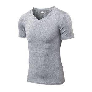 f2835dd363c T-SHIRT T-Shirt de Sport Homme Manches Courte Col V Moulan