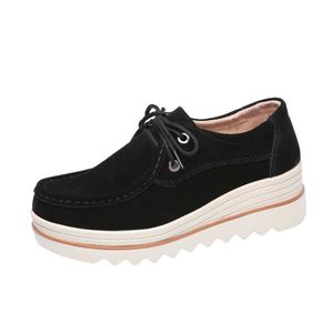MOCASSIN Femmes Flats à lacets Sneakers Muffin Chaussures e