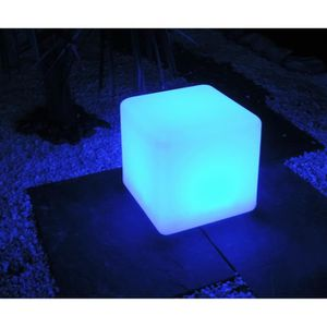 DÉCORATION LUMINEUSE MUNDUS Cube solaire Kanti - 8 LED - 30 x 30 x 30 c