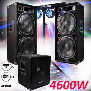 PACK SONO Pack PRO DJ 15-215-SK 4600W Sub38 -2 Enceintes 15