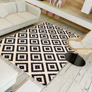 TAPIS Tapis de salon BC ROMA noir 200x290, par Unamourde