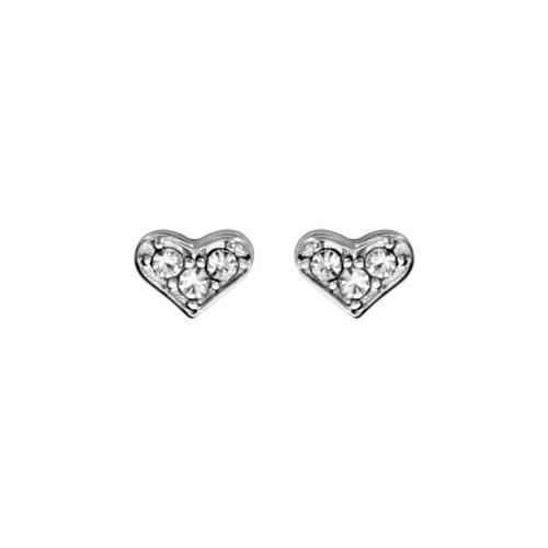 Boucles doreille tige acier chirurgical coeur oxy