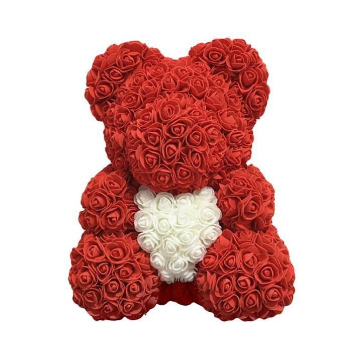 Amour Coeur Mousse Fleur Rose Belle Ours Saint Valentin Anniversaire