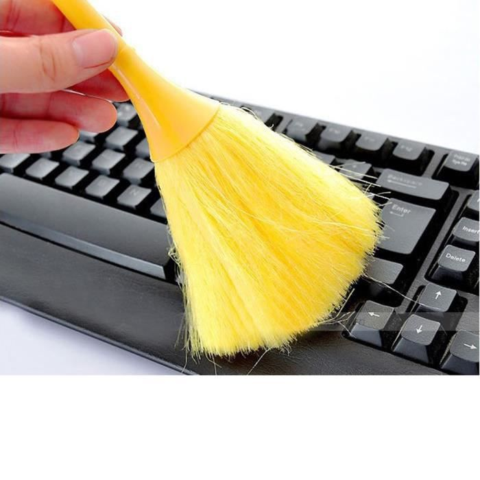 Balayeuse anti-statique multifonctionnelle de bureau de brosse de poussière de véhicule de clavier mini@hxq420