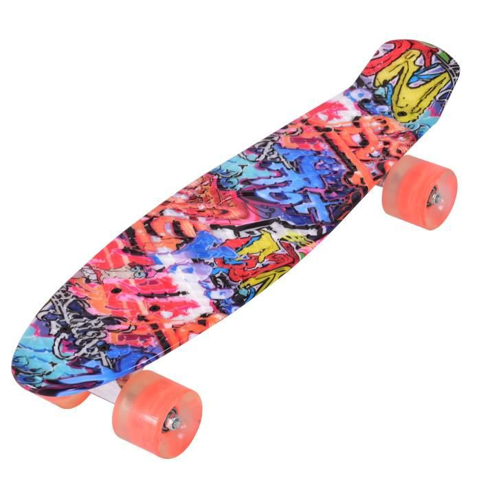skateboard lumineux achat vente pas cher cdiscount. Black Bedroom Furniture Sets. Home Design Ideas